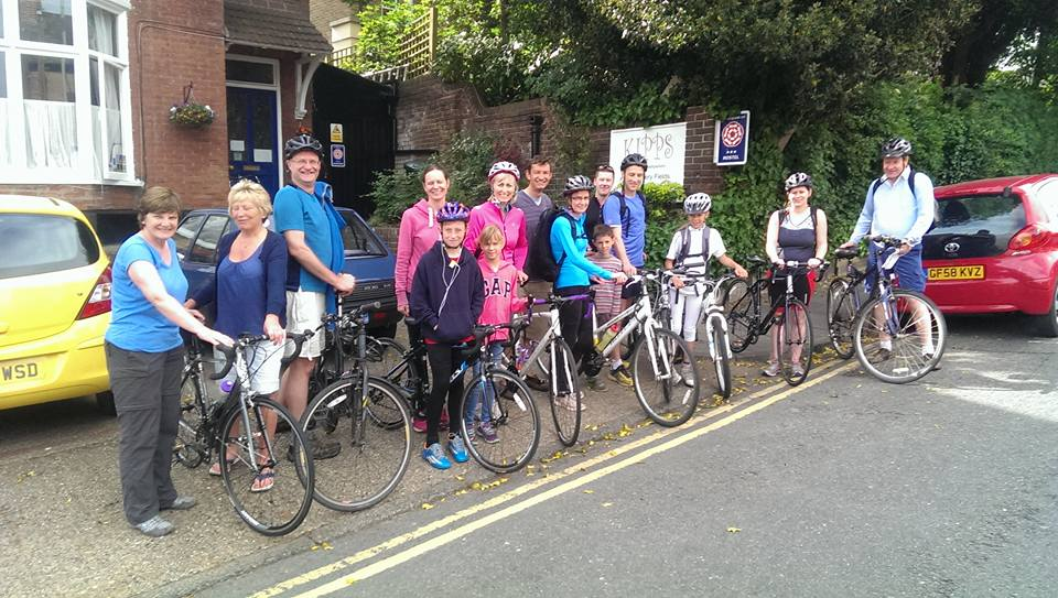 riders at the start of the 2015 bike ride